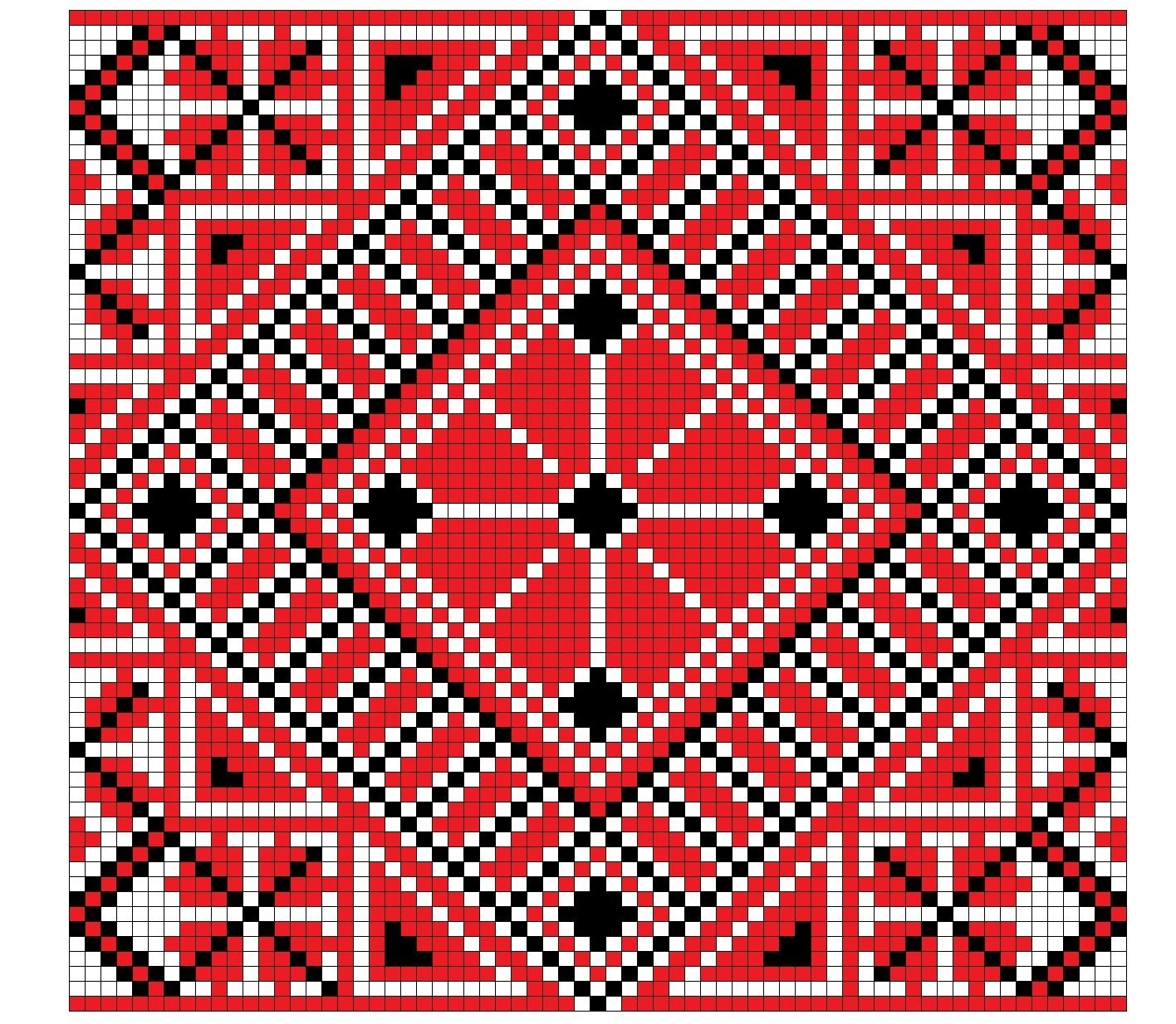 Белорусские узоры вышивка крестиком схемы 20
