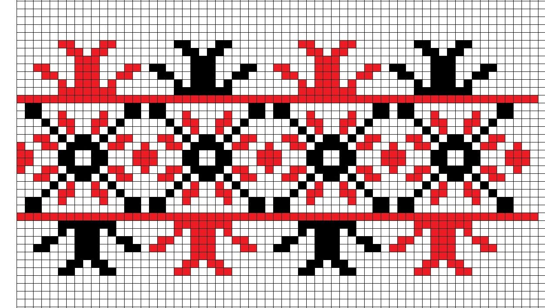 Белорусские узоры вышивка крестиком схемы 69