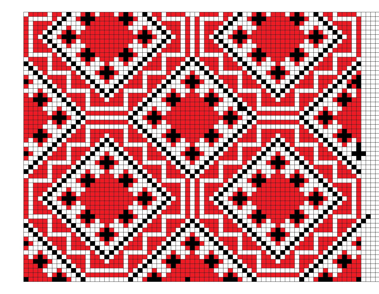 Белорусские узоры вышивка крестиком схемы 91